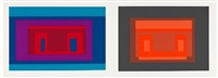 ten variants portfolio (pictured: variant ix and x) by josef albers