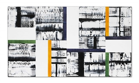 composition with yellow, green, purple 1 by ricardo mazal
