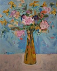pink peonies by zygmund jankowski