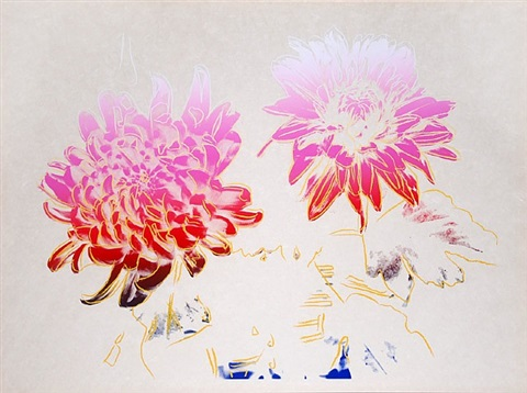 kiku, (chrysanthemum) by andy warhol