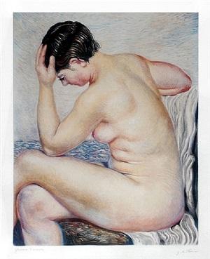bagnante seduta (bather sitting) by giorgio de chirico