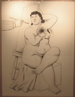 charcoal on canvas by fernando botero