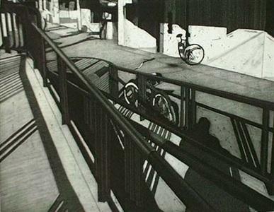 platform and bicycle, 6/20 by toru sugita