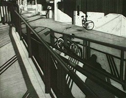 platform and bicycle, 6/20 by toru sugita