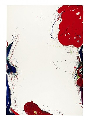 """ohne titel"" (sfp 64-3) / ""untitled"" (sfp 64-3) by sam francis"