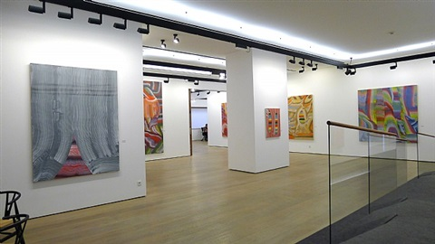 secos arabescos, panoramic installation view by josé manuel broto