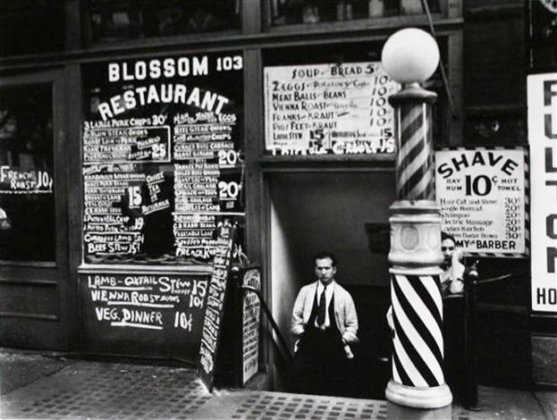 blossom restaurant, 103 bowery (from the new york iv portfolio) by berenice abbott