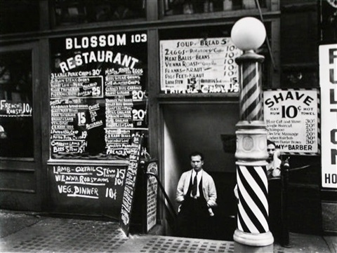 blossom restaurant 103 bowery from the new york iv portfolio by berenice abbott