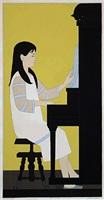 at the piano by will barnet