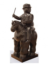 man on a horse by fernando botero