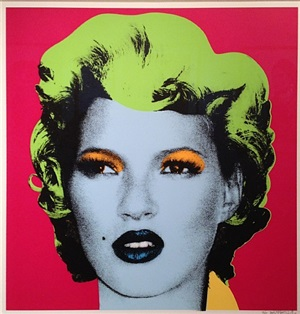 kate moss (pink colourway) by banksy