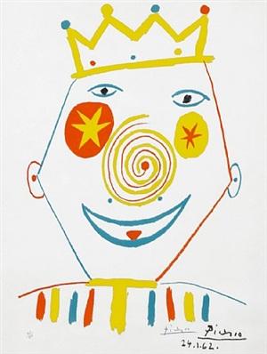 le clown (the clown) by pablo picasso