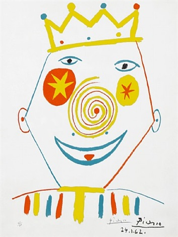 le clown (the clown) by pablo picasso