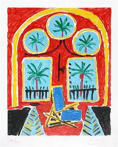 la fenêtre de l'atelier à la californie (the window of the studio la californie) by pablo picasso