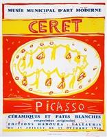 ceramiques et pates blanches (picasso ceramics and white pottery exhibition, ceret) by pablo picasso
