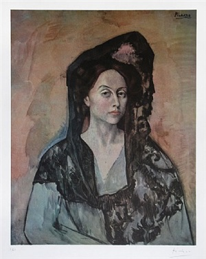 madame ricardo canals, from the barcelona suite by pablo picasso