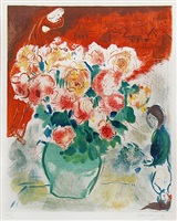 the bouquet by marc chagall
