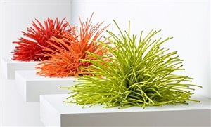 red, orange and chartreuse by bean finneran