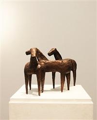 pferdegruppe by anton hiller