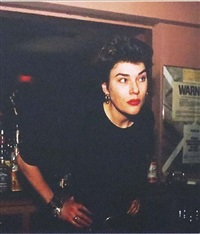 edwige behind the bar by nan goldin