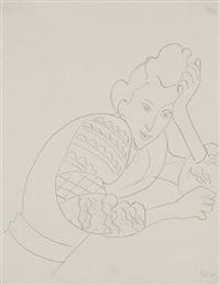 jeune femme accoudée à la blouse roumaine by henri matisse
