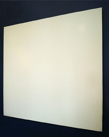 white painting by joseph marioni