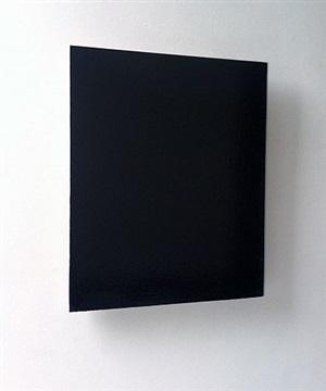black painting by joseph marioni
