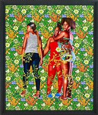 naomi and her daughters by kehinde wiley