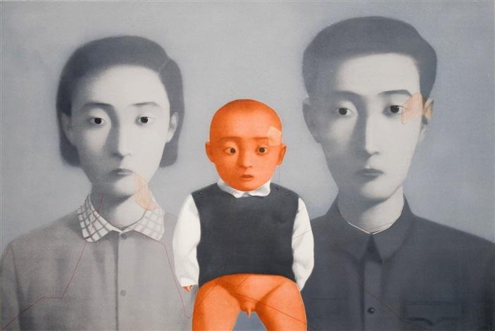 big family portrait by zhang xiaogang