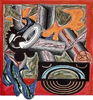 then came a dog and bit the cat by frank stella