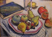still life with pears by ruth grotenrath