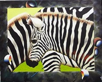 zebra portrait by ferjo