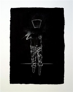 study for the mirror (black) iii by bernardí roig