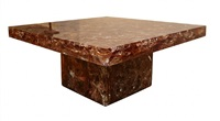 an impressive resin coffee table by marie-claude de fouquieres. by marie claude de fouquieres