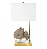 a specimen stone (rose sandstone) table lamp
