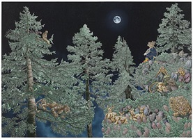 ode to the lost moon when innocence was young by raqib shaw
