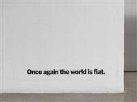 once again the world is flat by haim steinbach