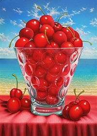 cherries at the beach by daniel meyer