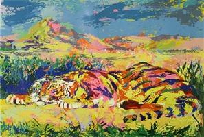 delacroix's tiger by leroy neiman