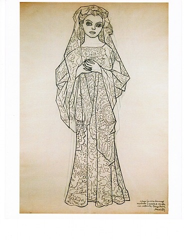 drawing of maya guarino by diego rivera
