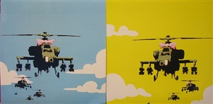 happy choppers – limited edition record cover by banksy