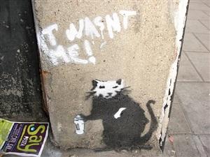 it wasn't me by banksy
