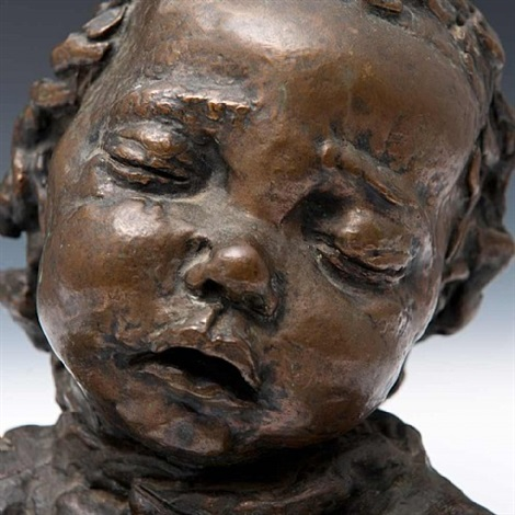 fourth portrait of peggy jean asleep by jacob epstein