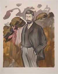 portrait d'un homme debout aveo barbiche by marina picasso