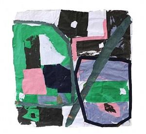 green, pink & black by francis davison