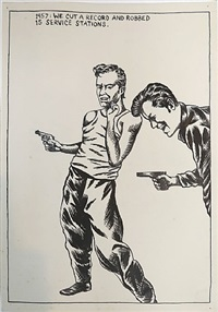 we cut a record... by raymond pettibon