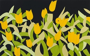 yellow tulips by alex katz