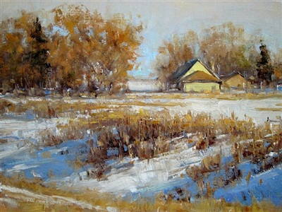 early snow (sold) by carol jenkins