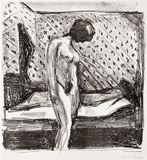 gråtende kvine (weeping woman) by edvard munch