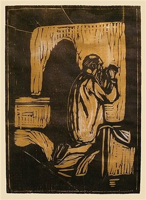gebet des alten mannes (old man praying) by edvard munch